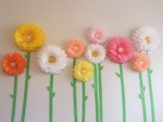 Spring paper flower backdrop of for parties, graduations, display windows and home decor Spring Paper Floral Background from … Blush Flowers, Pastel Flowers, May Flowers, Large Flowers, Spring Flowers, Tissue Paper Flowers, Paper Flower Backdrop, Paper Roses, Paper Sunflowers