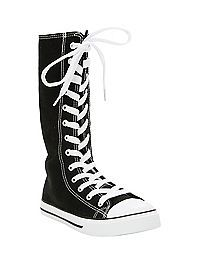 HOTTOPIC.COM - Black Hi-Top Sneakers