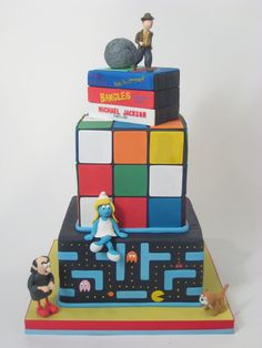 Ultimate 80's geeked-out birthday cake