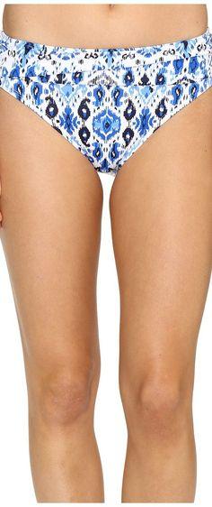 Tommy Bahama Ikat High-Waist Sash Bikini Bottom (Vivid Blue) Women's Swimwear - Tommy Bahama, Ikat High-Waist Sash Bikini Bottom, TSW35804B-400, Apparel Bottom Swimwear, Swimwear, Bottom, Apparel, Clothes Clothing, Gift - Outfit Ideas And Street Style 2017