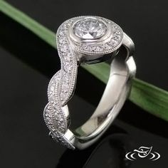 Get with a designer to create your own custom wedding band.