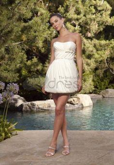 Abiti da Sposa Corti-Avorio senza spalline abiti da sposa corti moderni