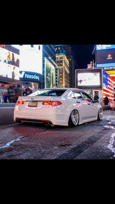 Acura TSX lowered white 2009. Plastic dip
