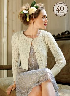 Wear a lace cardigan today! See how a lace cardigan can give your added appeal right here. Mode Mori, Lace Cardigan, Wedding Cardigan, Cream Cardigan, Wedding Dress, Glamour, Vintage Mode, Retro Vintage, Empire Style