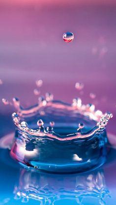 Abstract Macro Droplet Water Splash #iPhone #5s #wallpaper