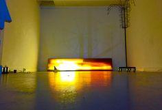 Caisson lumineux diy recup sérigraphie neon filtre à neon