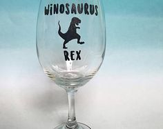 Winosaurus Rex Wine Glass, available on Etsy at The Rainey Day Boutique. $13.95.