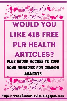 This is a great bonus you receive upon thepurchase of the book 'The Big Book of Home Remedies' which has 2,000 home remedies for common ailments. An extremely economical way to get PLR for your niche. #homeremedies #naturalremedies #healthPLR #freePLR #healthremedies #naturalhealing Natural Home Remedies, Natural Healing, All Family, Health Articles, Blogging For Beginners, Blog Tips, Health Remedies, Health And Wellness, How To Start A Blog