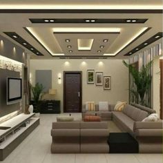 Ceiling Design In Living Room Interior Ceiling Design, House Ceiling Design, Ceiling Design Living Room, Bedroom False Ceiling Design, Home Ceiling, Home Room Design, Living Room Designs, Ceiling Fans, Fall Celling Design