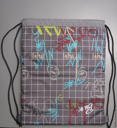 Как сшить мешок для сменной обуви - Ярмарка Мастеров - ручная работа, handmade