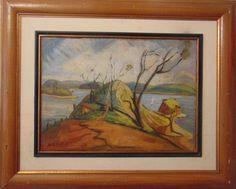 "ANITA MALFATTI, o.s.t. ""Paisagem"", 43 x 60 cm. a.c.i.e.COM DOCUMENTO"