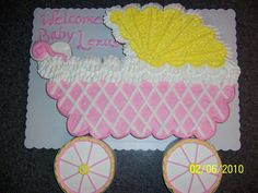Baby shower cupcake cake by nancy Baby Shower Cupcake Cake, Baby Shower Cupcakes For Girls, Baby Q Shower, Elephant Baby Shower Cake, Pull Apart Cupcake Cake, Pull Apart Cake, Fondant Cupcakes, Cupcake Cakes, Cupcake Cake Designs