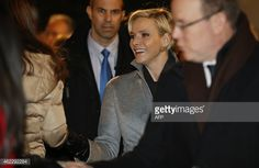 Monaco's Princess Charlene attends on January 26, 2015 a procession in Monaco celebrating the patron saint of Monaco and Corsica, Saint-Devote. AFP PHOTO / VALERY HACHE