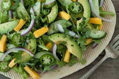 Tropical Cucumber Avocado Salad