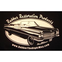 Cadillac T-shirt - high quality 100% cotton. Cadillac image on back side, RTRW logo on front left breast. Available in navy blue only, sizes small...