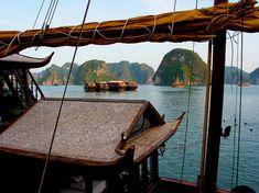 Baie d'Halong, Nord-Vietnam 2005. © Franck Pédersol