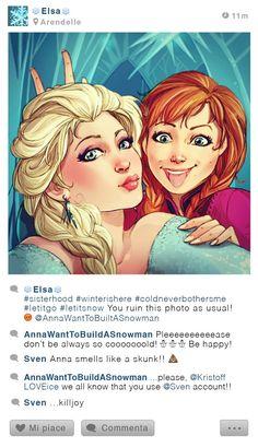 Elsa - Selfie Fables by Simona Bonafini
