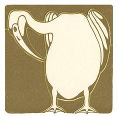 Art Nouveau Pelican Trivet Kit