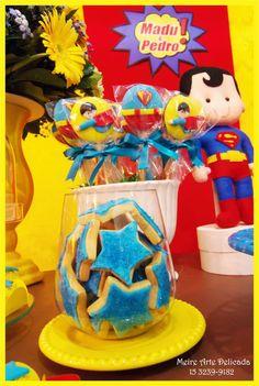 Meire Arte Delicada: Decoração de festa infantil do Super Homem e Mulher Maravilha em Sorocaba!