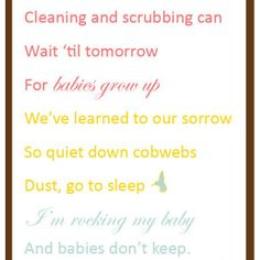 Rocking my Baby - click for free printable version