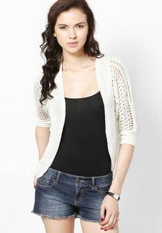 buy online shopping hot and best deals,offers in india. Buy online stylish shrug for women by Only.Off white classy shrug made of acrylic fabric. This fashionable shrug for women is quite skin friendly. Loose -fit shrug is light in weight and superior in quality. Shrug has an excellent finish and is very comfortable to wear as well.