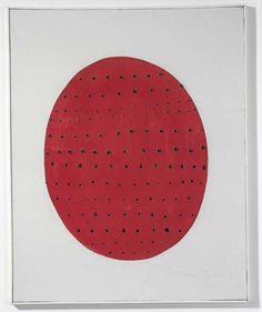 Lucio Fontana - Concetto spaziale (Spatial Concept), 1962, Water-soluble paint and pencil on canvas, 31 5/8 x 25 3/8 inches