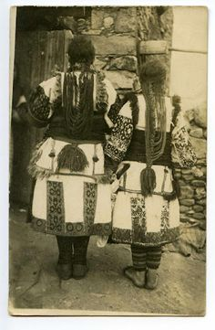 "when I repinned this is said, ""Bulgarian costume"", however, looks similar to Mariovo area to me..."