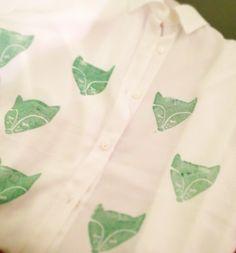 camisa de zorros, fox print Pedidos mythingsarechic@gmail.com