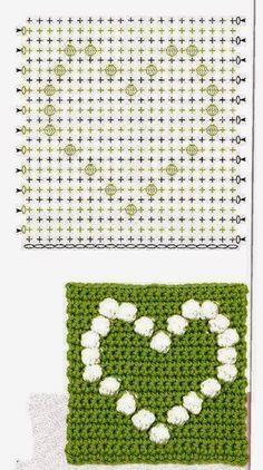 Best 12 Crochet bobble heart blanket pattern more patterns like this – Artofit patterns afghan patterns crochet patterns Crochet Bedspread Pattern, Granny Square Crochet Pattern, Crochet Blocks, Crochet Diagram, Crochet Squares, Crochet Blanket Patterns, Crochet Motif, Crochet Stitches, Bobble Stitch Crochet
