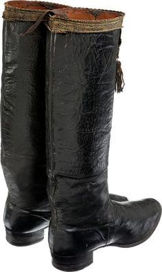 Officer's boots of the 19th century.