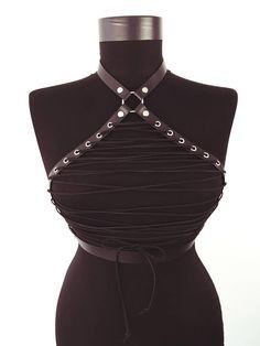Leather Male Costume Men Body Chest HANDLER Harness  Clubwear Black Belts fancy