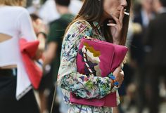 Street-Style Photographer Tommy Ton Shoots the Menswear Scene: Floral Blouse