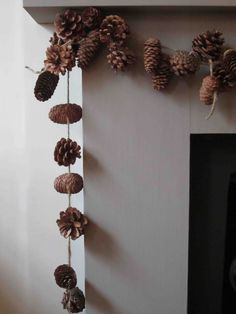 34 Ideas Diy Christmas Wreath Garland Pine Cones For 2019 - Weihnachten Noel Christmas, Rustic Christmas, Winter Christmas, Christmas Wreaths, Christmas Decorations, Xmas, Holiday Crafts, Holiday Fun, Festive