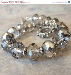 Silver crystal bracelet~<3