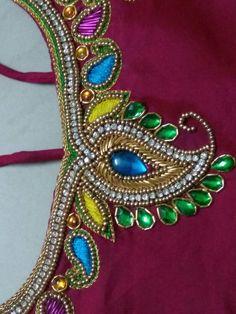 Neckline Designs, Dress Neck Designs, Sleeve Designs, Pattu Saree Blouse Designs, Churidar Designs, Best Blouse Designs, Bridal Blouse Designs, Aari Embroidery, Embroidery Designs