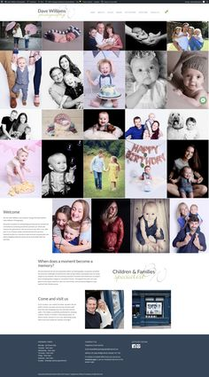 Children and family portrait specialist in Chester Dave Williams, Children And Family, Chester, Family Portraits, Web Design, Photo Wall, In This Moment, Memories, Frame