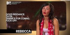 Rebecca proved that Geordies are articulate when it comes to saying goodbye.