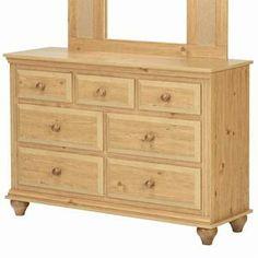 Madison 7 Drawer Dresser with Roller Glides in Desert Pine | Nebraska Furniture Mart