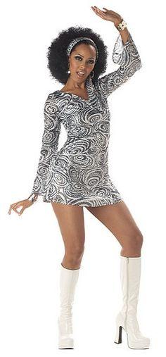 70's Disco Diva Woman Costume - Adult Women Halloween Costumes