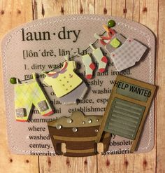Laundry by Connie Davis Atc Cards, Card Tags, Scrapbook Paper Crafts, Scrapbooking, Paperclip Crafts, Paper Clip Art, Recipe Scrapbook, Rolodex, Index Cards