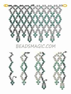 Free pattern for beaded wedding necklace Dia | Beads Magic - 2