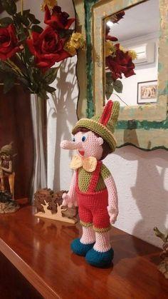 Pinocchio Amigurumi Muster Pinocchio Spanisch Muster Patron pinocho amigurumi Source by berlijntoet Crochet Animals, Crochet Toys, Free Crochet, Crochet Baby, Crochet Dolls Free Patterns, Amigurumi Patterns, Amigurumi Doll, Pinocchio, Crochet Patron