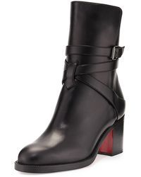 d49254c973c1 Christian Louboutin - Karistrap Leather 70mm Red Sole Ankle Boot - Lyst  Bootie Boots