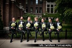 LOL, the groomsmaids. Cute. This looks like it was taken at the Purdue Union.