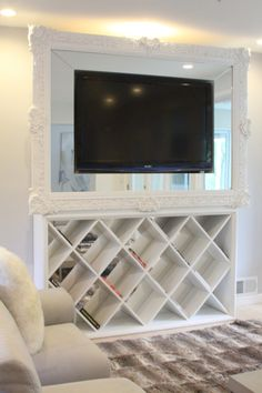 TV frame with mirror
