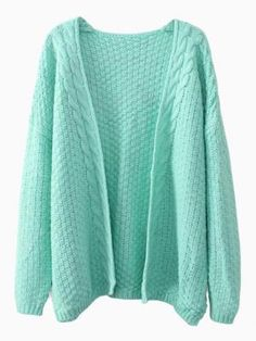 Shop Light Green Twists Knit Cardigan from choies.com .Free shipping Worldwide.