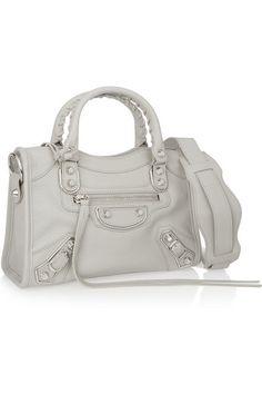 Balenciaga - Classic Metallic Edge City mini textured-leather shoulder bag f6393ceb03