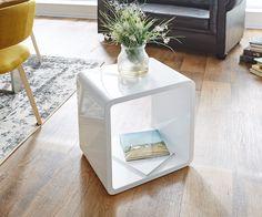 Regal Cube Club 45x45 cm Weiss Hochglanz
