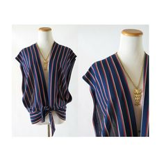 70s Striped Shirt / Tie Front Blouse / 70s Top / Tie Front Top / Open Side Top / Hippie Blouse / Hippie Top / Mod Top / Mod Blouse by GoodLuxeVintage on Etsy