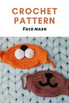 Crochet pattern face mask Allergy mask tutorial Cotton mask for adult pattern Crochet mask DIY mask - The Effective Pictures We Offer You About crochet face mask A quality picture can tell you many th - Crochet Mask, Crochet Faces, Easy Crochet, Crochet Toys, Free Crochet, Tutorial Crochet, Easy Knitting Projects, Crochet Projects, Crochet Patterns For Beginners